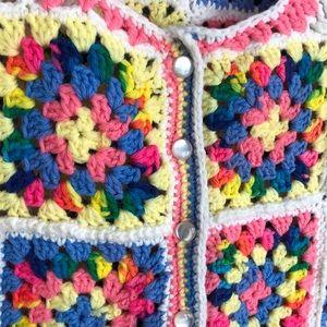 Vintage Jackets & Coats - Vintage crocheted vest